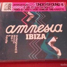 CDs de Música: 2 CD NUEVO PRECINTADO DISCOTECA DISCO AMNESIA IBIZA UNDERGROUND 8. Lote 58674560