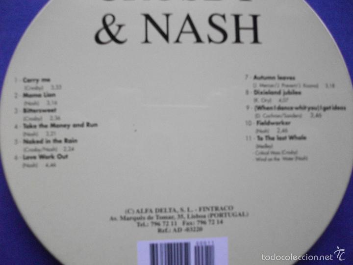 CDs de Música: CROSBY & NASH CROSBY & NASH CD ALBUM 1995 PORTUGAL PDELUXE - Foto 2 - 58676123