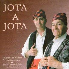 CDs de Música: MIGUEL LOU Y JESÚS GÉREZ - JOTA A JOTA - CD ALBUM - 32 TRACKS - BEDEVIDEO 2001. Lote 58706643