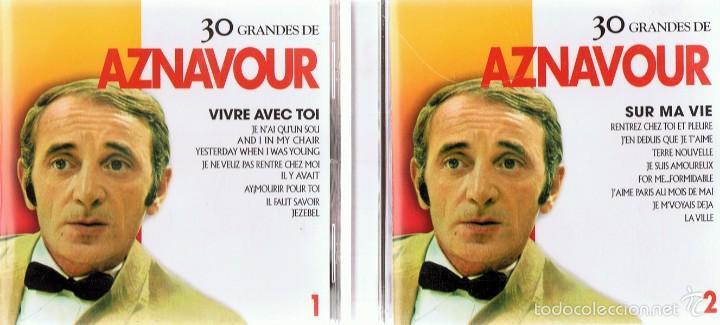 CDs de Música: CD 30 GRANDES DE AZNAVOUR - Foto 2 - 58870581