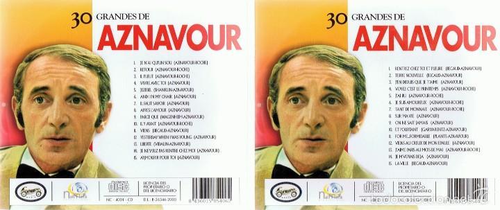 CDs de Música: CD 30 GRANDES DE AZNAVOUR - Foto 3 - 58870581