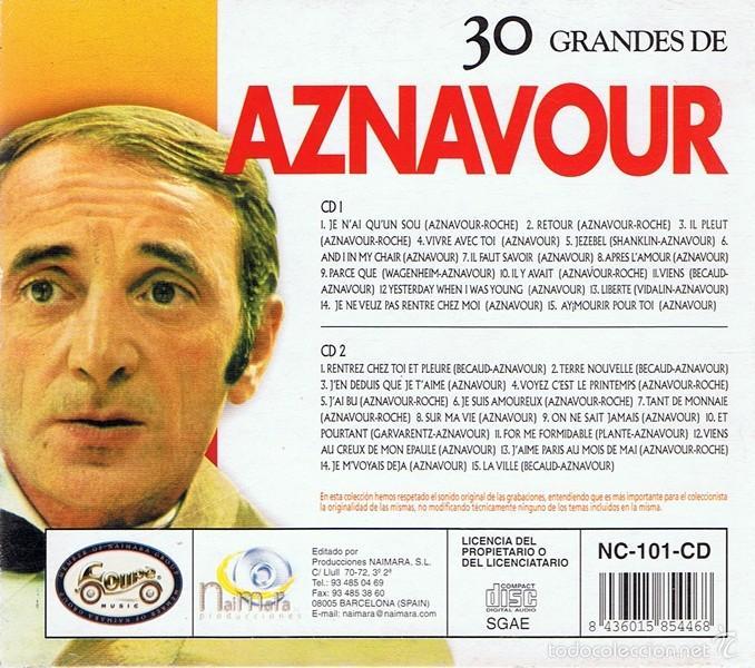 CDs de Música: CD 30 GRANDES DE AZNAVOUR - Foto 4 - 58870581