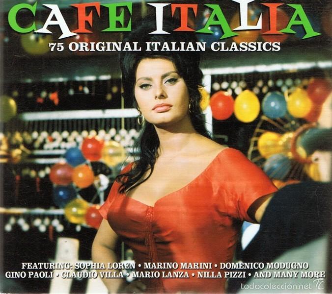 CD CAFE ITALIA 75 ORIGINAL ITALIAN CLASSICS (Música - CD's World Music)