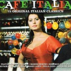 CDs de Música: CD CAFE ITALIA 75 ORIGINAL ITALIAN CLASSICS. Lote 58871081