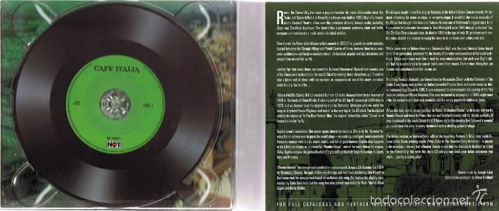 CDs de Música: CD CAFE ITALIA 75 ORIGINAL ITALIAN CLASSICS - Foto 2 - 58871081