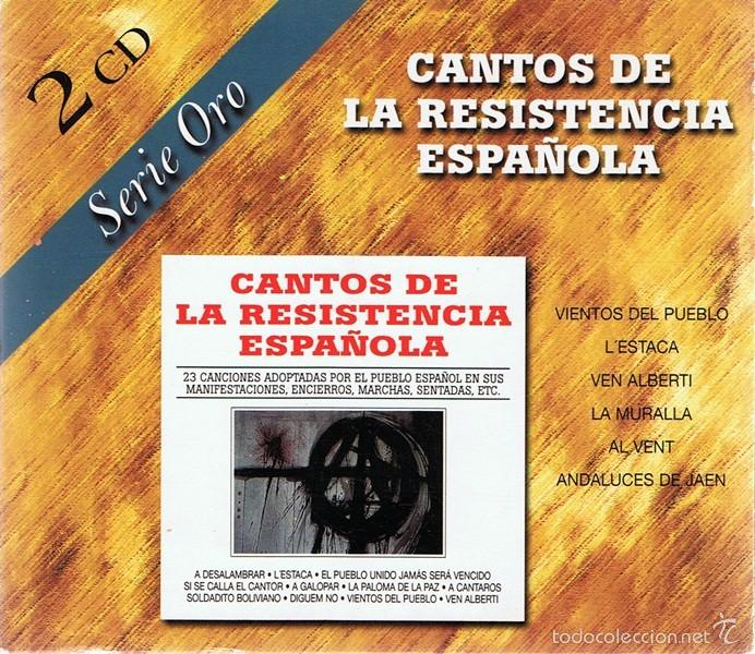 CD CANTOS DE LA RESISTENCIA ESPAÑOLA (2 CDS) (Música - CD's World Music)