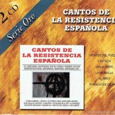CDs de Música: CD CANTOS DE LA RESISTENCIA ESPAÑOLA (2 CDS). Lote 58871256