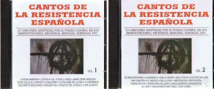 CDs de Música: CD CANTOS DE LA RESISTENCIA ESPAÑOLA (2 CDS) - Foto 2 - 58871256
