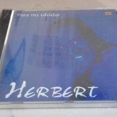 CDs de Música: CD NUEVO PRECINTADO HERBERT PARA NO OLVIDAR. Lote 58873001
