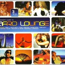 CDs de Música: THE BEGINNER'S GUIDE TO AFRO LOUNGE * BOX SET 3 CD * CAJA PRECINTADA * RARE. Lote 59086825