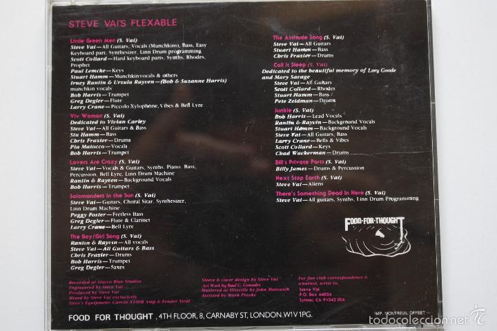 CDs de Música: STEVE VAI- FLEX ABLE- FRENCH CD 1984. - Foto 3 - 59395410