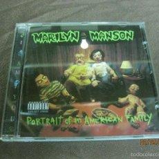CDs de Música: MARILYN MANSON. PORTRAIT OF AN AMERICAN FAMILY. CD.. Lote 59626563