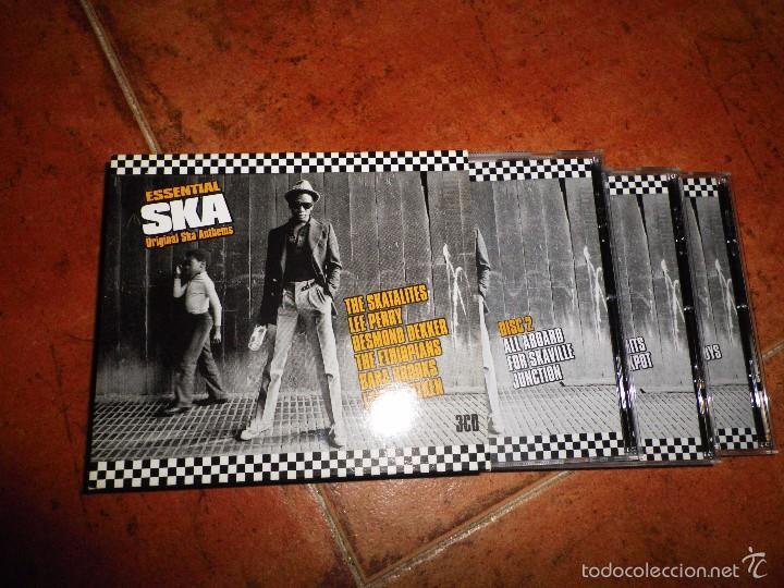 ESSENTIAL SKA ORIGINAL SKA ANTHEMS TRIPLE CD THE SKATALITES LEE PERRY DESMOND DEKKER BOX SET 3 CD (Música - CD's Reggae)