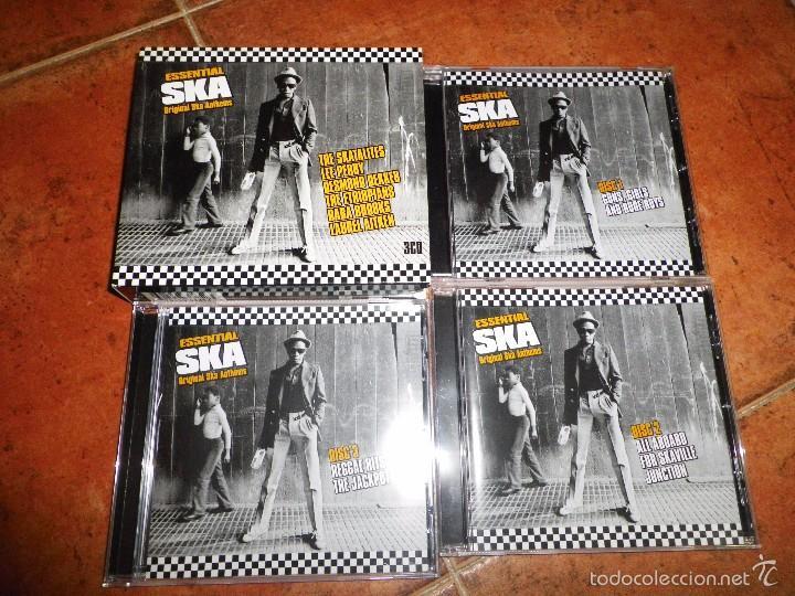 CDs de Música: ESSENTIAL SKA ORIGINAL SKA ANTHEMS TRIPLE CD THE SKATALITES LEE PERRY DESMOND DEKKER BOX SET 3 CD - Foto 2 - 59700267