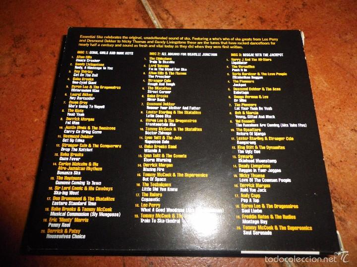 CDs de Música: ESSENTIAL SKA ORIGINAL SKA ANTHEMS TRIPLE CD THE SKATALITES LEE PERRY DESMOND DEKKER BOX SET 3 CD - Foto 3 - 59700267