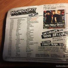 CDs de Música: NO WAY OUT (LO QUE DURA DURA) EDICION ESPECIAL TOUR 2008 CAMISETA REGALO. PRECINTADO. 12 + 3 (CDI2). Lote 295406358