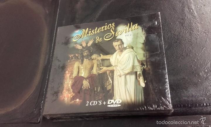 2 CDS + DVD MISTERIOS DE SEVILLA VOL. 2 SEMANA SANTA COFRADÍAS HERMANDAD HERMANDADES (Música - CD's Flamenco, Canción española y Cuplé)