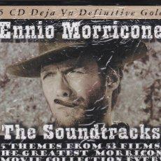 CDs de Música: ENNIO MORRICONE - THE SOUNDTRACKS - 5 CDS, 75 TEMAS DE 53 PELÍCULAS.. Lote 59984311