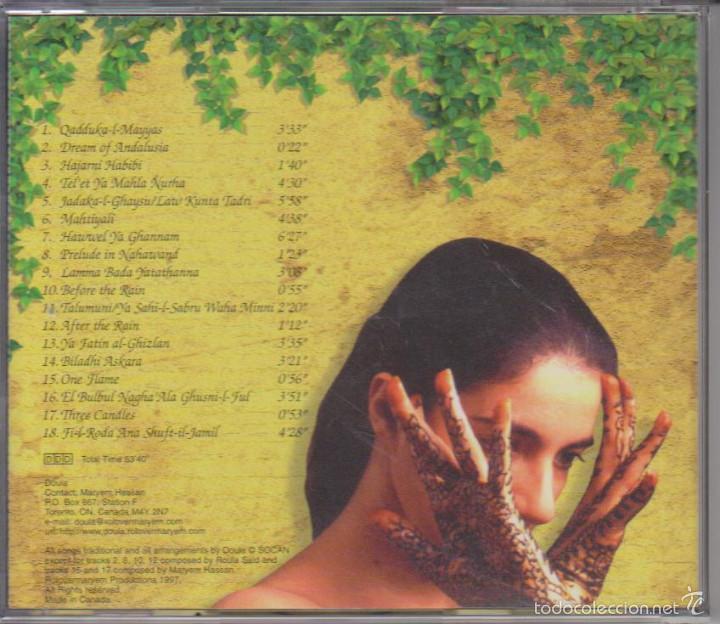 CDs de Música: DOULA - IN THE GARDEN - MÚSICA ÁRABE - ROLOVERMARYEM 1997 - EDICIÓN CANADÁ - Foto 2 - 60101323