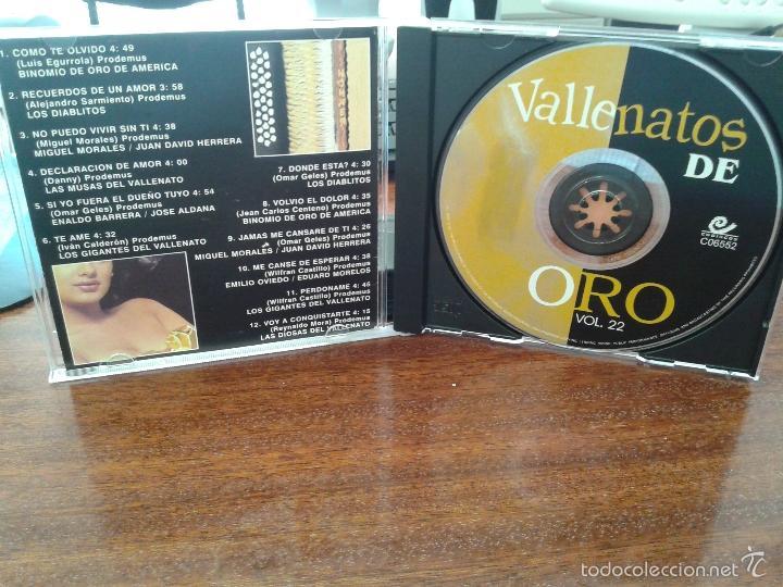 CDs de Música: Vallenatos de oro Vol 22 - Foto 2 - 45641611