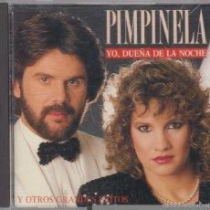 CDs de Música: PIMPINELA CD YO, DUEÑA DE LA NOCHE Y OTROS GRANDES ÉXITOS 1991. Lote 131457535