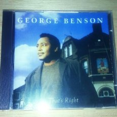 CDs de Música: CD - GEORGE BENSON - THAT´S RIGHT. Lote 60734431