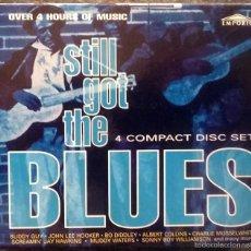 CDs de Música: VVAA. STILL GOT THE BLUES. EMPORIO 1994 (4 CD + ESTUCHE) OVER 4 HOURS OF MUSIC. Lote 60762207