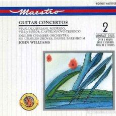 CDs de Música: JOHN WILLIAMS - GUITAR CONCERTOS / 2 CDS /. Lote 60835075