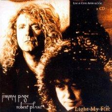 CDs de Música: JIMMY PAGE ROBERT PLANT 2XCD+DVD LIGHT MY FIRE LED ZEPPELIN LIVE 1995 DOBLE CD RARO. Lote 60837331