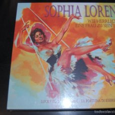CDs de Música: BOX SET CD +DVD + LIBRO SOPHIA LOREN LUCKY TO BE A WOMAN NUEVO SIN DESPRECINTAR. Lote 60872011