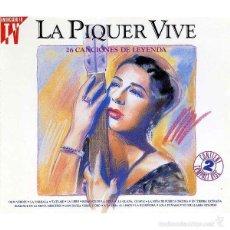 CDs de Música: LA PIQUER VIVE - 26 CANCIONES DE LEYENDA - CONCHITA PIQUER / 2 CDS. Lote 60934675