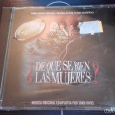 CDs de Música: CD NUEVO PRECINTADO BSO BANDA SONORA ORIGINAL CINE ESPAÑOL ¿DE QUE SE RIEN LAS MUJERES? JOAN VIVES. Lote 61001370