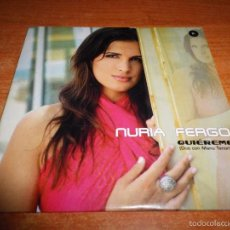 CDs de Música: NURIA FERGO QUIEREME DUO MANU TENORIO CD SINGLE PROMO CARTON 2002 1 TEMA. Lote 129088234