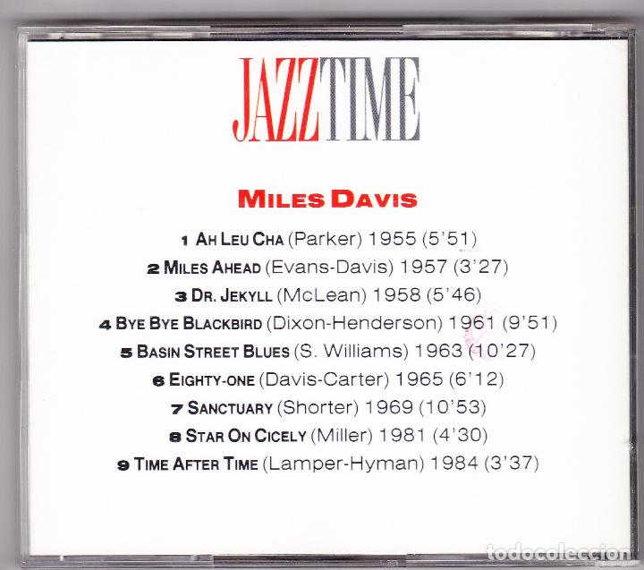 CDs de Música: MILES DAVIS - JAZZ TIME - ORBIS FABBRI 1992 - Foto 2 - 61654060