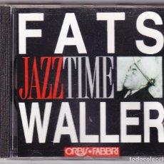CDs de Música: FATS WALLER - JAZZ TIME - ORBIS FABBRI 1992. Lote 61654164