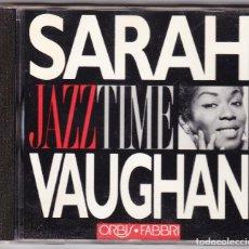 CDs de Música: SARAH VAUGHAN - JAZZ TIME - ORBIS FABBRI 1992. Lote 61654536