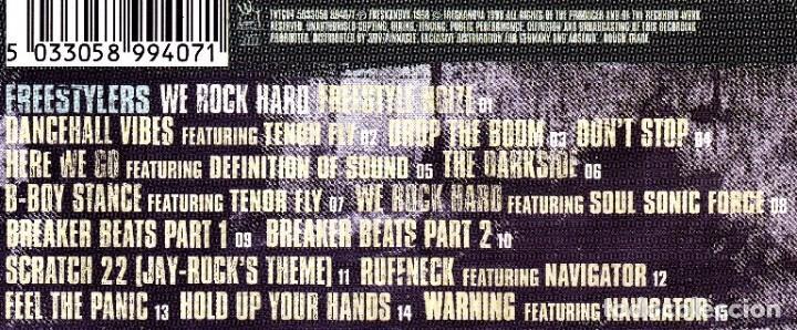 CDs de Música: R1 - FREESTYLERS. Rock Hard. Grupo Ingles Hip Hop. Big Beat. Electro. Cd. - Foto 5 - 61737908