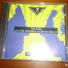 CDs de Música: PAU RIBA PLUS BIG ENSEMBLE TALLER DE MUSICS. Lote 61866820