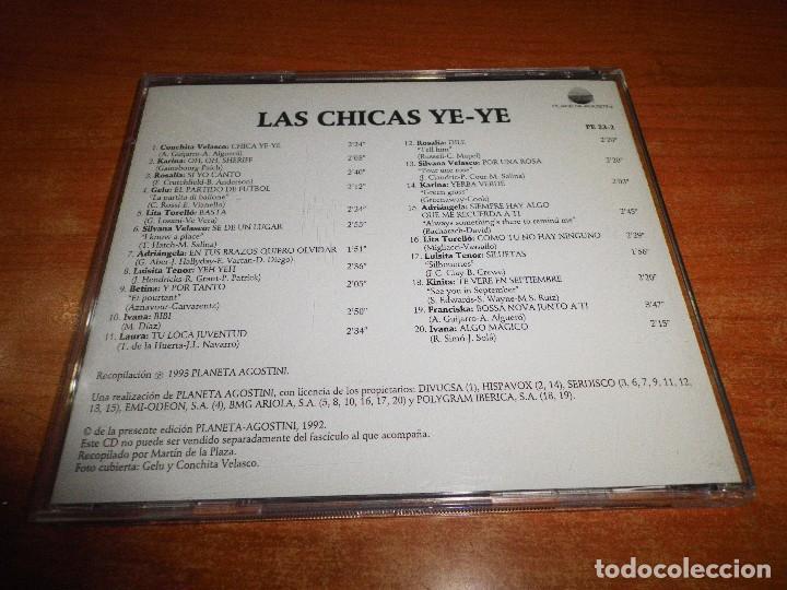 CDs de Música: LAS CHICAS YE-YE CD ALBUM 1993 PLANETA CONCHITA VELASCO KARINA ROSALIA GELU LITA TORELLO IVANA - Foto 2 - 62014840