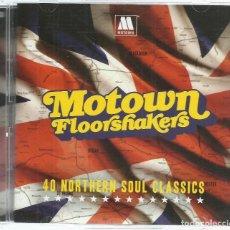 CDs de Música: VV.AA. - MOTOWN FLOORSHAKERS - 40 NORTHERN SOUL CLASSICS - CD DOBLE SPECTRUM 2012 NUEVO. Lote 62060400