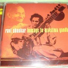 CDs de Música: RAVI SHANKAR / HOMAGE TO MAHATMA GANDHI / HOMENAJE A MAHATMA GANDHI / CD. Lote 62120480