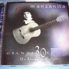 CDs de Música: MANZANITA / 30 GRANDES ÉXITOS / LO MEJOR DE / 2 CD. Lote 62122816
