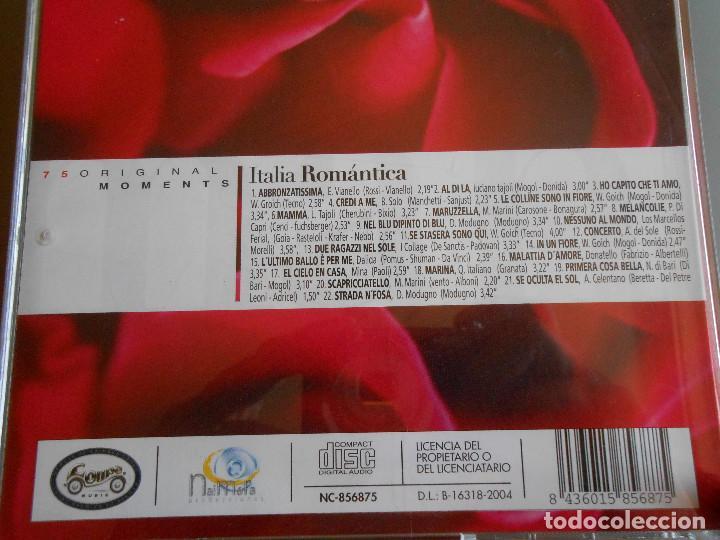 CDs de Música: ITALIA ROMANTICA coleccion original moments - Foto 3 - 62222476