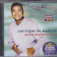CDs de Música: LUIS MIGUEL DEL AMARGE,QUIERO AMANECER CONTIGO DEL 2001. Lote 62456932