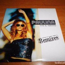 CDs de Música: PAULINA RUBIO VIVE EL VERANO REMIXES CD SINGLE PROMO DEL AÑO 2001 ESPAÑA CARTON CONTIENE 2 TEMAS. Lote 179149927