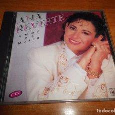 CD de Música: ANA REVERTE AMOR DE MUJER CD ALBUM DEL AÑO 1992 CONTIENE 11 TEMAS HORUS MUY RARO. Lote 63007760