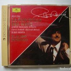 CDs de Música: LA FANCIULLA DEL WEST, G. PUCCINI. P. DOMINGO/C.NEBLET/Z.METHA. ROYAL OPERA HOUSE (EXTRACTOS). Lote 63318188