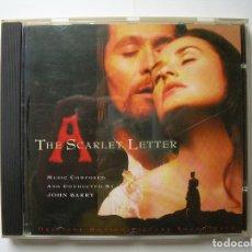 CDs de Música: THE SCARLET LETTER, BSO JOHN BARRY SONY MUSIC 1995. Lote 63346476