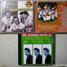 CDs de Música: LOTE...LOS TROVADORES DE CUYO-JOSE MIGUEL CLASS Y OTROS...COLOMBIA...3 CD´S (UNO DOBLE). Lote 63414984