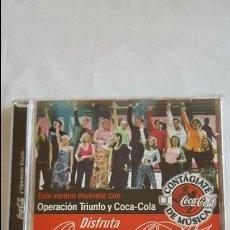 CDs de Música: F 2142 CD OPERACION TRIUNFO Y COCACOLA COCA COLA AÑO 2002 DAVID BISBAL BUSTAMANTE ROSA CHENOA.... Lote 63492752